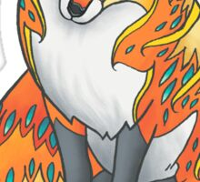 Mandala Fox Sticker