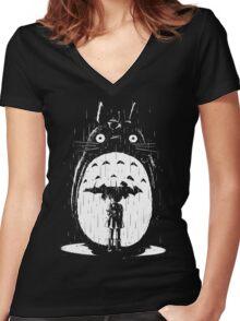 A Noir Neighbour Women's Fitted V-Neck T-Shirt