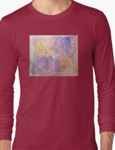 Gorgeous hand made pigment design for large decorative Wall Art and Textile prints Long Sleeve T-Shirt