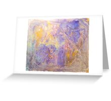 Gorgeous hand made pigment design for large decorative Wall Art and Textile prints Greeting Card