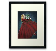 Froggy and Red Framed Print