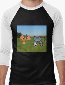 Two Cats Waiting To Play Men's Baseball ¾ T-Shirt