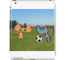 Two Cats Waiting To Play iPad Case/Skin