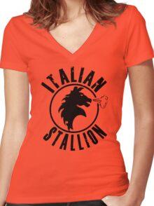 Italian Stallion Rocky Balboa Women's Fitted V-Neck T-Shirt