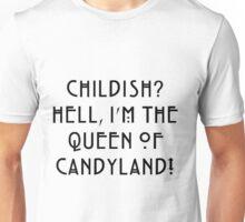 Queen of Candyland Black Unisex T-Shirt