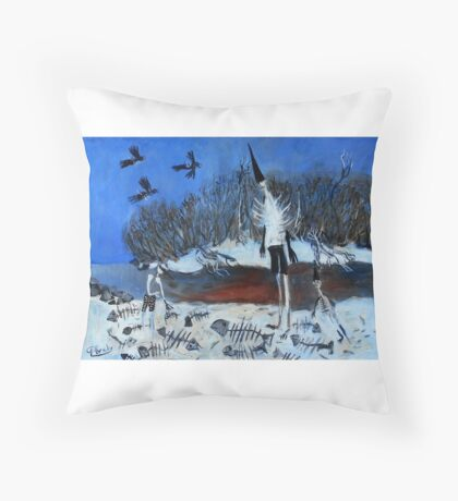 dead fish collectors Throw Pillow