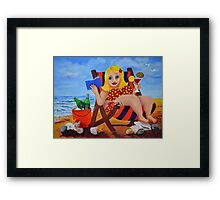 Lifes tough in East Gippsland. marg pearson Framed Print