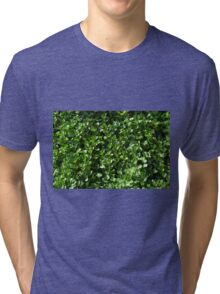 Green leaves pattern. Tri-blend T-Shirt