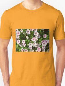 Pink flowers bush in the garden. T-Shirt