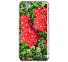 Red flowers bush. iPhone Case/Skin