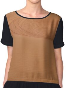 Sand dunes in the desert. Chiffon Top