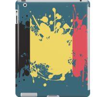 Belgium Flag Ink Splatter iPad Case/Skin