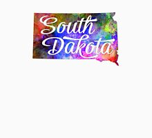 South Dakota US State in watercolor text cut out. T-Shirt