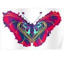 Neon Butterfly Poster