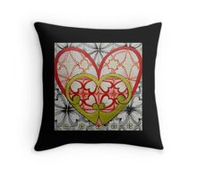 Retro Hearts Throw Pillow