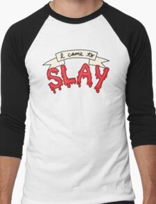 Slay Beyonce Buffy Vampire Blood Kill Horror Feminist Print Men's Baseball ¾ T-Shirt