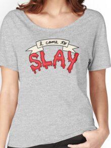 Slay Beyonce Buffy Vampire Blood Kill Horror Feminist Print Women's Relaxed Fit T-Shirt