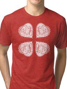 4 Hearts White Aussie Tangle - See Description Notes re Colour Options Tri-blend T-Shirt