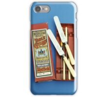 Stainless steel table knives produced by Harrison Fisher and Co., Sheffield, 1920s-30s iPhone Case/Skin