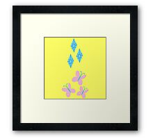 My little Pony - Fluttershy + Rarity Cutie Mark V2 Framed Print