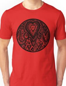 Valentine Circle of Hearts Aussie Tangle Transparent Unisex T-Shirt