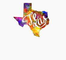 Texas US State in watercolor text cut out T-Shirt