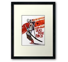 Dead Punk Rock Framed Print