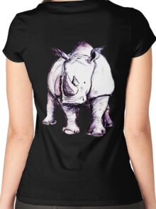 Rhino (Colour) Women's Fitted Scoop T-Shirt