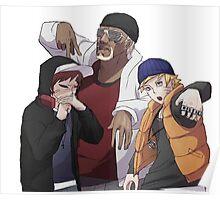 Naruto, Killer B and Gaara Poster