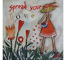 Spread your love Photographic Print
