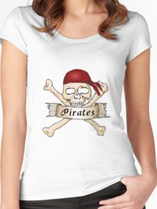 Go Pirates Women's Fitted Scoop T-Shirt