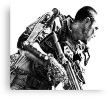 Armed soldier Canvas Print