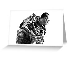 Armed soldier Greeting Card