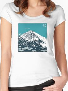 Mt Fuji from the Sky Women's Fitted Scoop T-Shirt