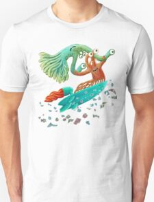 Surfing Monster Fun Unisex T-Shirt