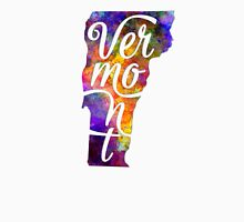 Vermont US State in watercolor text cut out T-Shirt