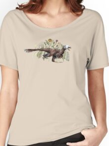 Velociraptor and plant life Women's Relaxed Fit T-Shirt