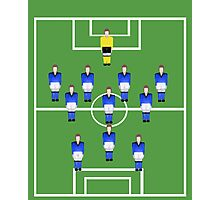 Football team in blue  Photographic Print