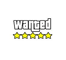 Grand Theft Auto - Wanted Photographic Print