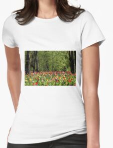 The forest of tulips Womens Fitted T-Shirt