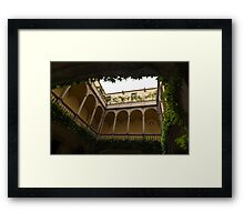 Cozy Courtyard - Green Mediterranean Serenity and Peace Framed Print