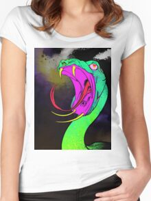 demon snake  Women's Fitted Scoop T-Shirt