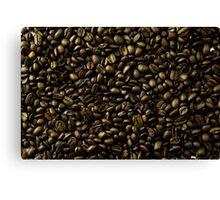 coffee beans in bulk a soft light  Canvas Print