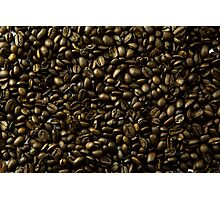 coffee beans in bulk a soft light  Photographic Print