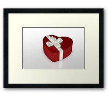 one red gift box  Framed Print