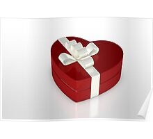 one red gift box  Poster