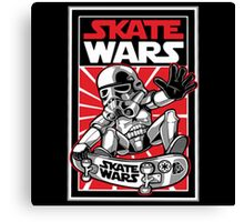 Wars Skateboard Canvas Print