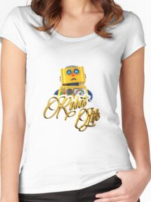 Robot Life Women's Fitted Scoop T-Shirt
