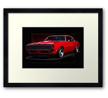 1968 Chevrolet Camaro Rally Sport RS396 Framed Print
