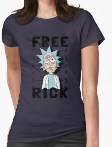 Free Rick Sanchez Womens Fitted T-Shirt